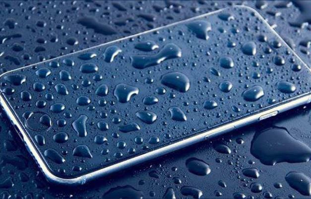 mobile in drop of water